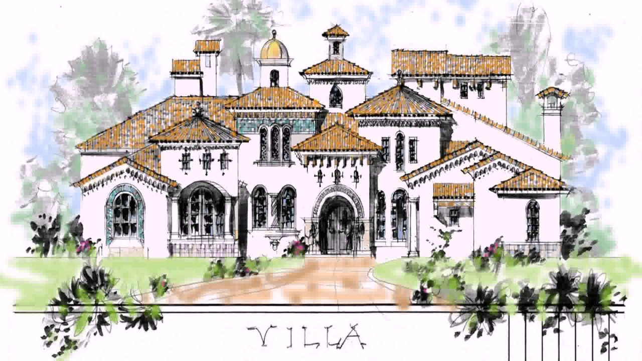 house plans for hacienda style homes - youtube