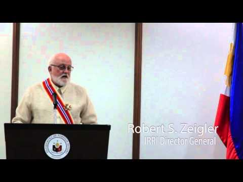 The Philippine Order of Sikatuna is bestowed on IRRI's director general