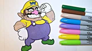 Coloring Wario! Color with Colorful Cat