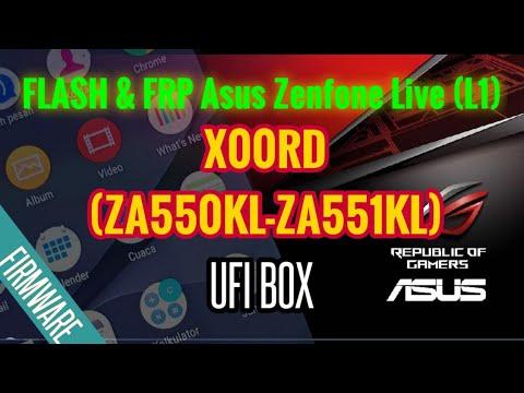 CARA FLASH Asus Zenfone Live (L1) X00RD (ZA550KL-ZA551KL) dan reset FRP MENGGUNAKAN UFI BOX