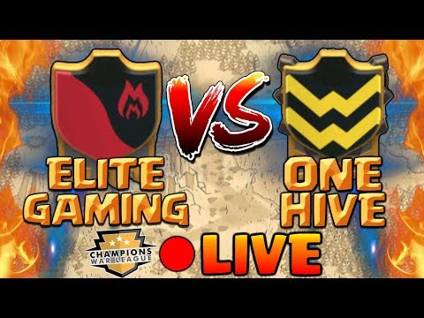 Clash of Clans | ELITE GAMING vs ONE HIVE [2018] CWL Invite War Final Moments!