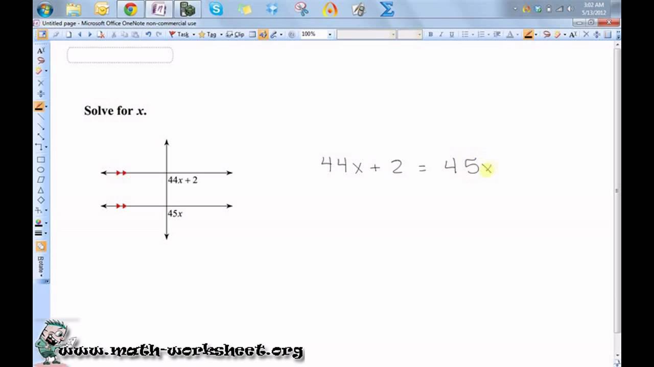 Uncategorized Transversal Worksheet parallel lines and transversals worksheets