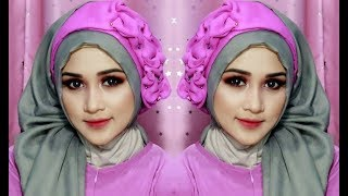 TUTORIAL MAKE UP DAN HIJAB SEGE EMPAT SEMPLE MEWAH, HIJAB PESTA, HIJAB KNDANGAN,HIJAB WISUDA2 mp4n
