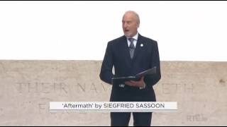 'Aftermath' by Siegfried Sassoon, read by Charles Dance (Battle of the Somme Commemoration)