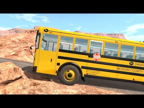 BeamNG Drive - Dansworth American School Bus D2500 Test Drive