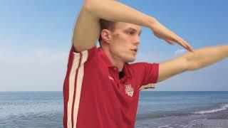 Техника плавания кролем. Правильно вкладываем руку.