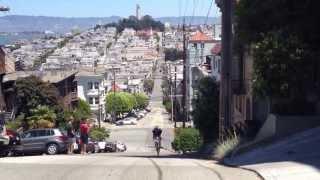 Kyle takes on Filbert St. between Hyde & Leavenworth, San Francisco