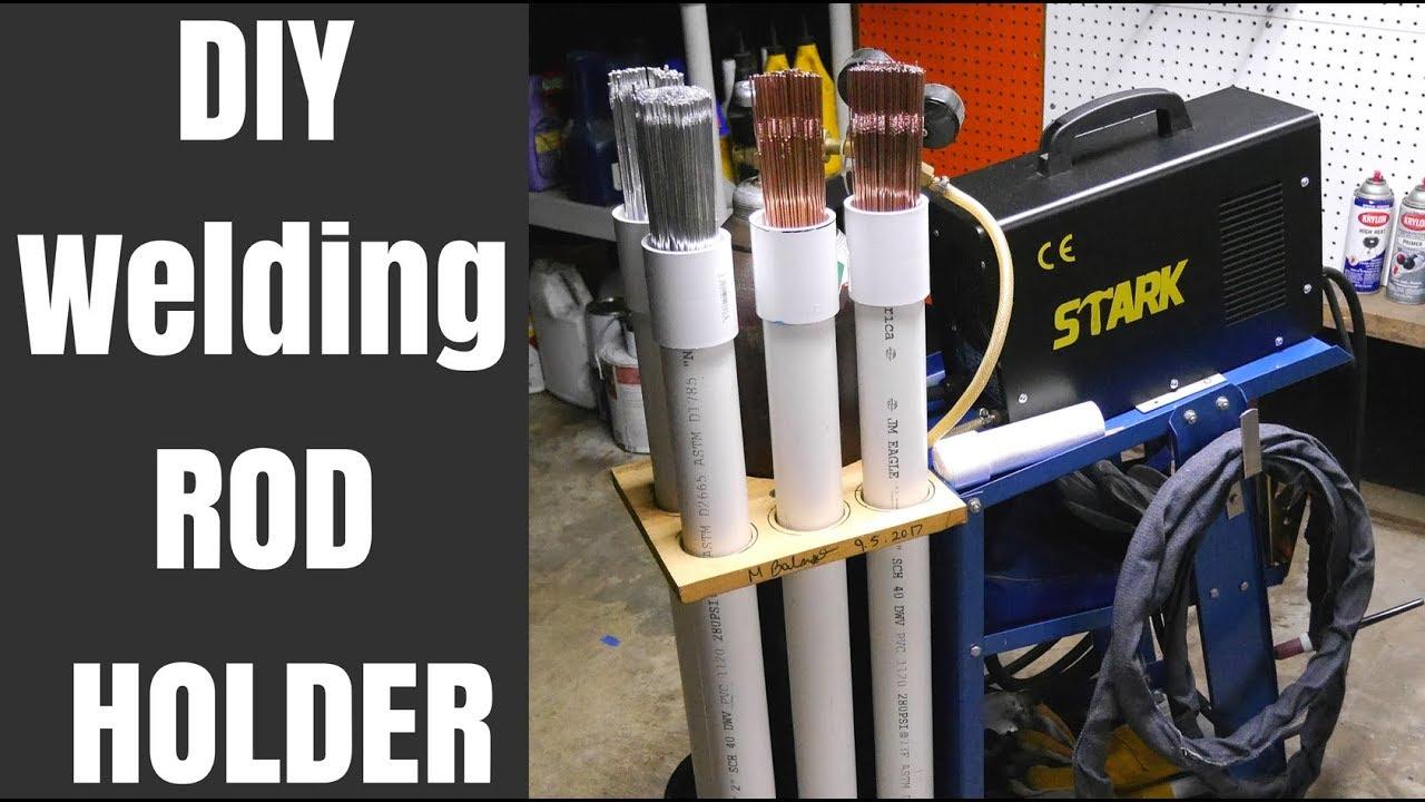 Tig Welding Rod Holder And Storage On Cart Diy Pvc