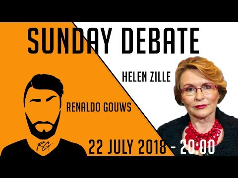 Sunday Debate | Helen Zille | 22 July 2018