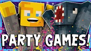 Minecraft - CRAZY PARTY GAMES! - W/AshDubh