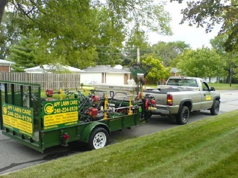 2015 Lawn Care Trailer Set Up Youtube
