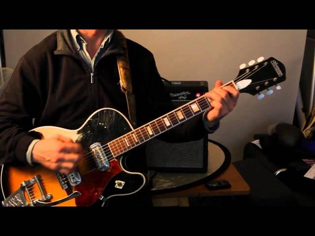 1966 Harmony Meteor guitar with 1966 Fender Princeton amp