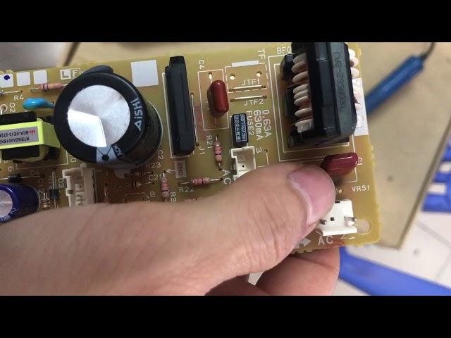 Lỗi cắm nhầm điện máy lọc không khí, máy hút ẩm nhật nội địa