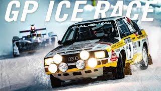 AUDI Sport Quattro Driften mit Walter Röhrl | GP ICE RACE | Daniel Abt