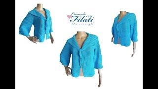 """Giacca """"Giusy"""" tutorial uncinetto/crochet 💕Creando con i filati 💕"""