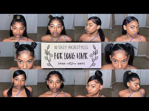 10 EASY HAIRSTYLES FOR MEDIUM/LONG NATURAL HAIR 2018 | Ashley Liani
