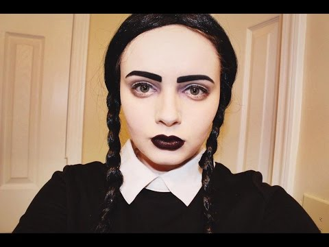 Modern/Glam Wednesday Addams Makeup Tutorial | Doovi