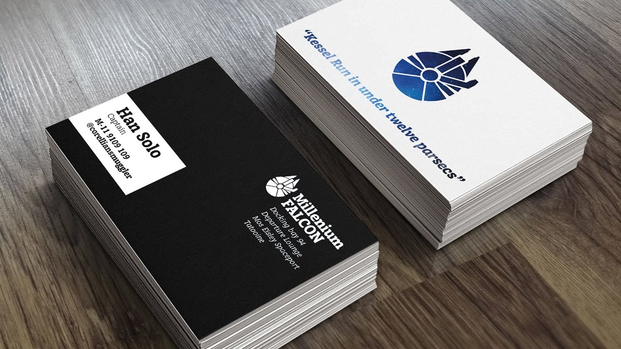 How to create a print ready business card design youtube wajeb Image collections