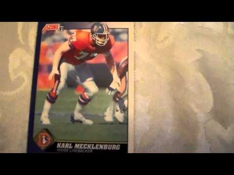 Football Card Karl Mecklenburg Score 77