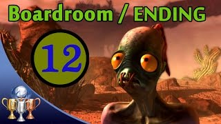 Oddworld New 'N' Tasty Speedrun Walkthrough (100%) - Chapter 15 The Boardroom with BEST Ending