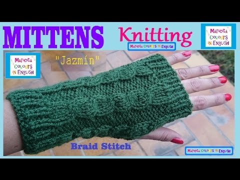 How to make fingerless with Cable Knitting Pattern