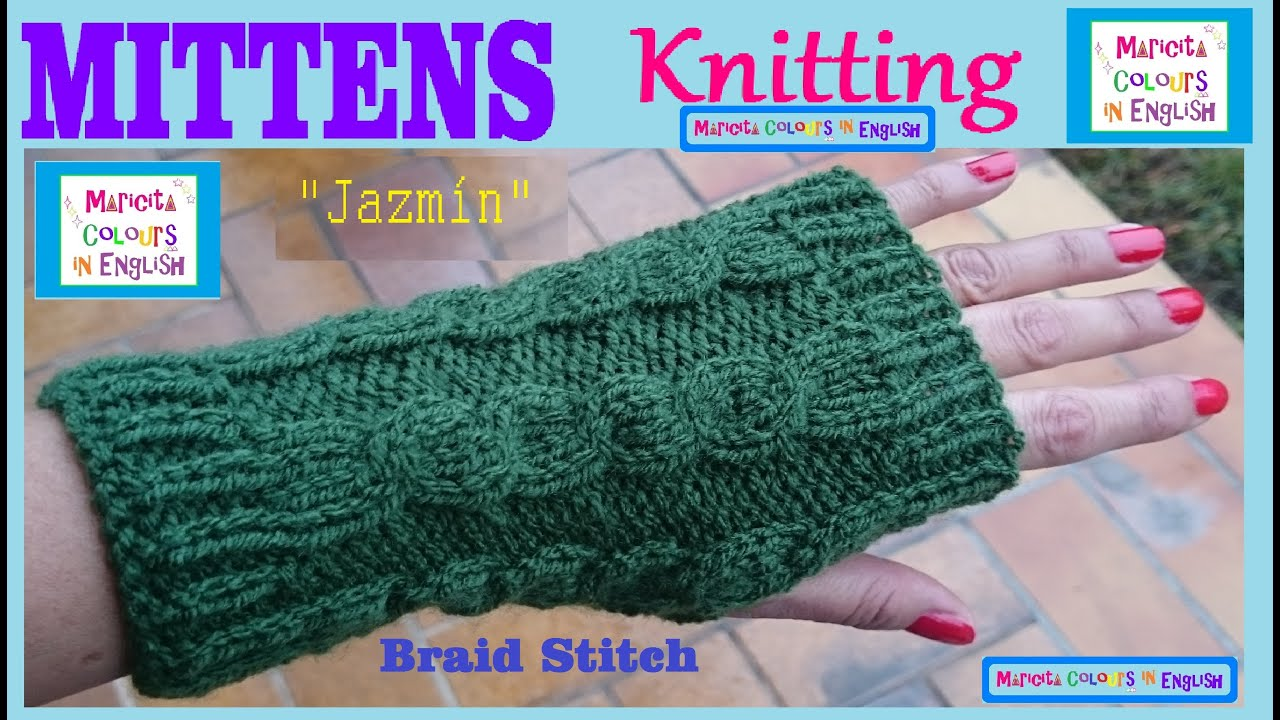 How to make fingerless with Cable Knitting Pattern \