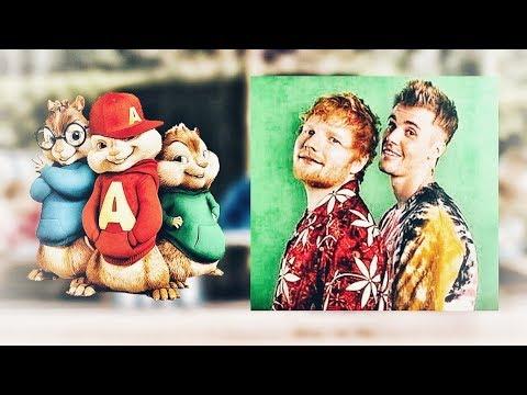 Ed Sheeran ~ I Don't Care Ft.Justin Bieber ~ Chipmunk Version