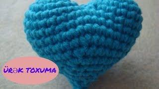 ❤Ürək toxuma.Kalp yapımı.Amigurumi Heart Crochet.amigurumi crochet