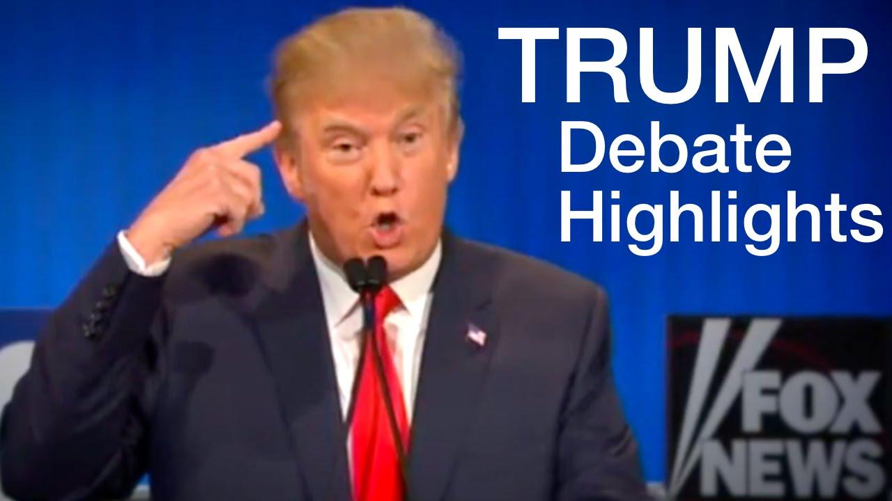 Donald Trump Republican Debate Highlights (Lowlights) - YouTube