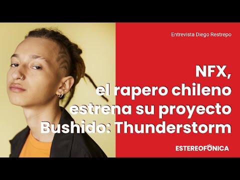 """NFX, el rapero chileno estrena su proyecto """"Bushido Thunderstorm"""" #Entrevista   Estereofonica"""