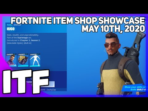 Fortnite Item Shop *NEW* HUGO SET + BUILT IN EMOTE! [May 10th, 2020] (Fortnite Battle Royale)
