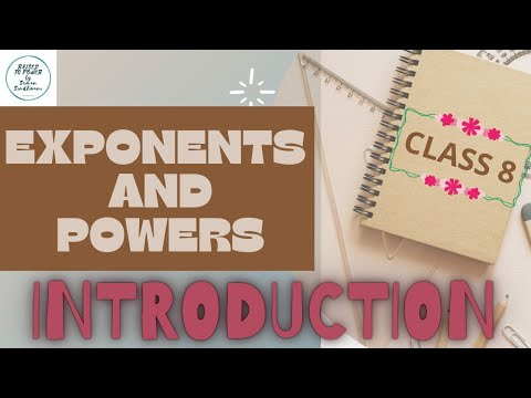 INTRODUCTION |EXPONENTS AND  POWERS | 8TH  MATHEMATICS | NCERT| RAISED TO POWER |Suman Sindhwani