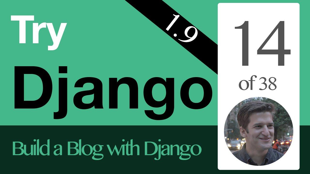 Try Django 1.9 - 14 of 38 - Django Templates - YouTube