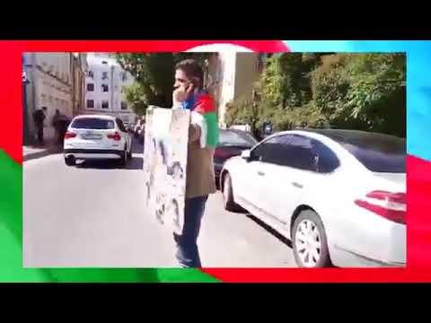 Москва. Когда и один в поле воин. Саттар пикетирует армянское посольство.