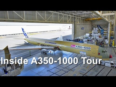 Inside the A350-1000 Airbus Test Plane