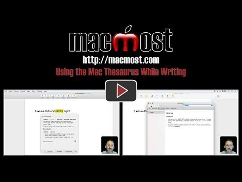 Using the Mac Thesaurus While Writing (#1418)