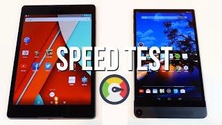 Nexus 9 vs Dell Venue 8 7000 Tablet Speed Test