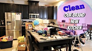 My First Time Cleaning Up Our Brand New Kitchen! | Clean With Me