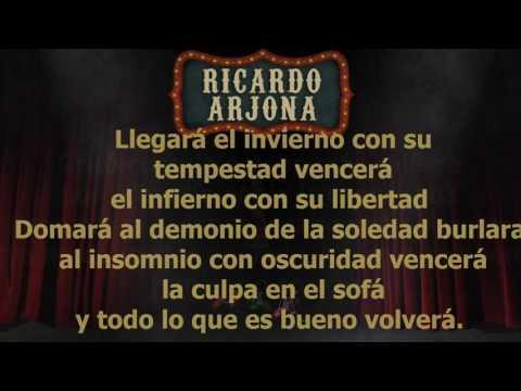 Ricardo Arjona - Remiendo Al Corazón (Letra)