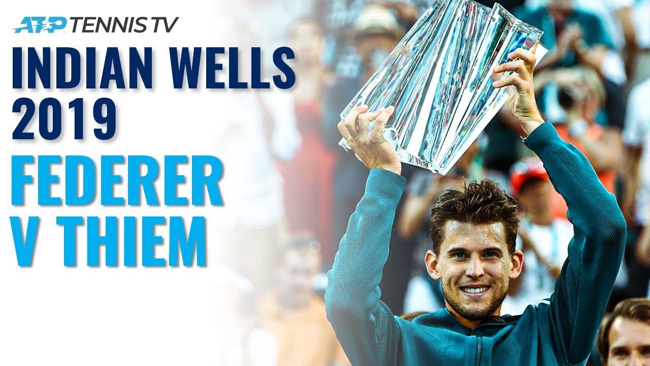 Extended Highlights: Roger Federer v Dominic Thiem   Indian Wells 2019 Final