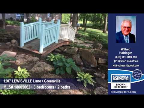 1207 LEWISVILLE Lane, Greenville, IL 62246 $229,900 Home for Sale