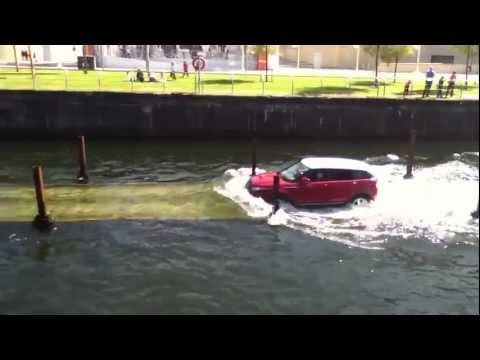 Land Rovers in Water - Albert Dock, Liverpool