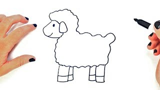 How to draw a Sheep Step by Step   Easy drawings for Kids