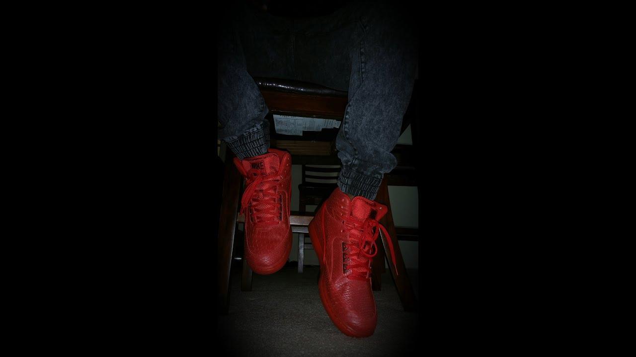 quality design 0f99e d80cd nike air python prm red on feet