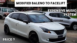 """Baleno modified to facelift 2017 to 2019 with Expensive Music System """" BASS ALERT""""   Gutsy Ladka Video"""