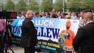 ROTUNDA GYM BANNER AS THEY COMES OUT TO SUPPORT TONY 'BOMBER' BELLEW / REAL LIFE ROCKY STORY
