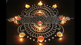 Beautiful & easy rangoli designs for diwali 2017 - diwali kolam designs - latest muggulu designs
