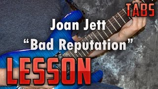 Joan Jett-Bad Reputation-Easy Power Chords-Guitar Lesson-How to play-Tutorial