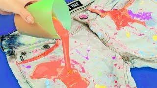 Как покрасить ткань и нанести рисунок на одежду -  7 способов