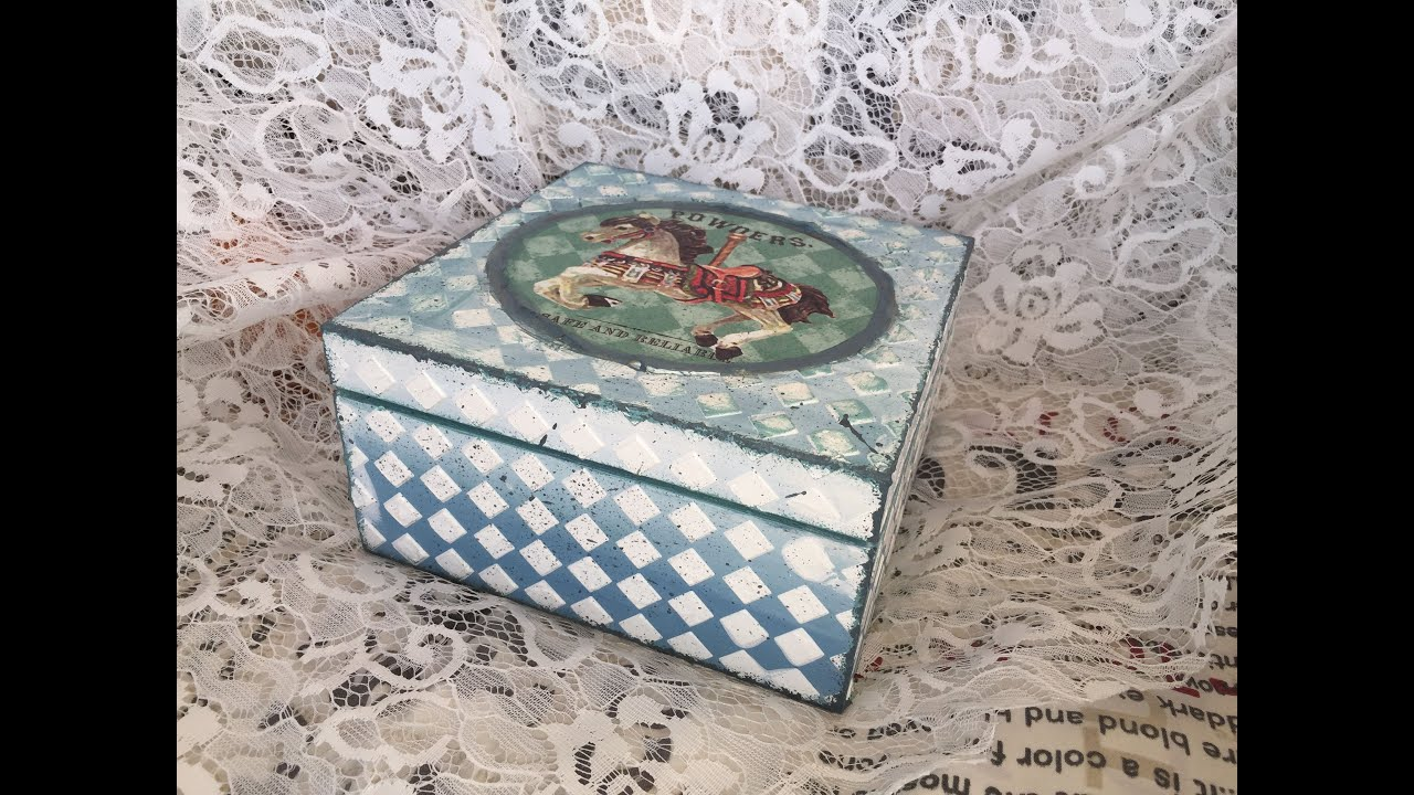 Decoupage tutorial on wooden box for Wooden box tutorial